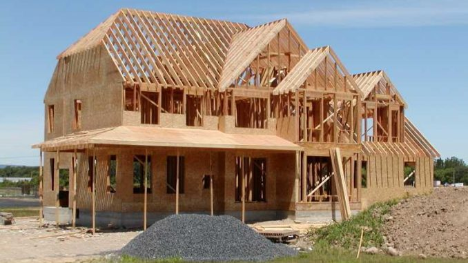 Construction maison structure en bois