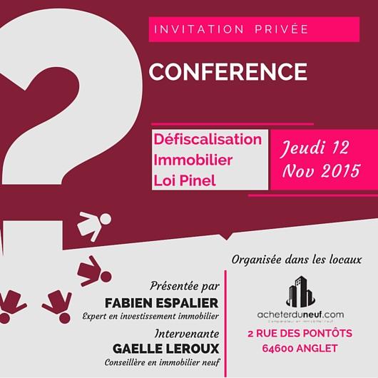 Conférence Investissement et défiscalisation