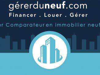 logo gérerduneuf.com fon bleu foncé logo bleu clair
