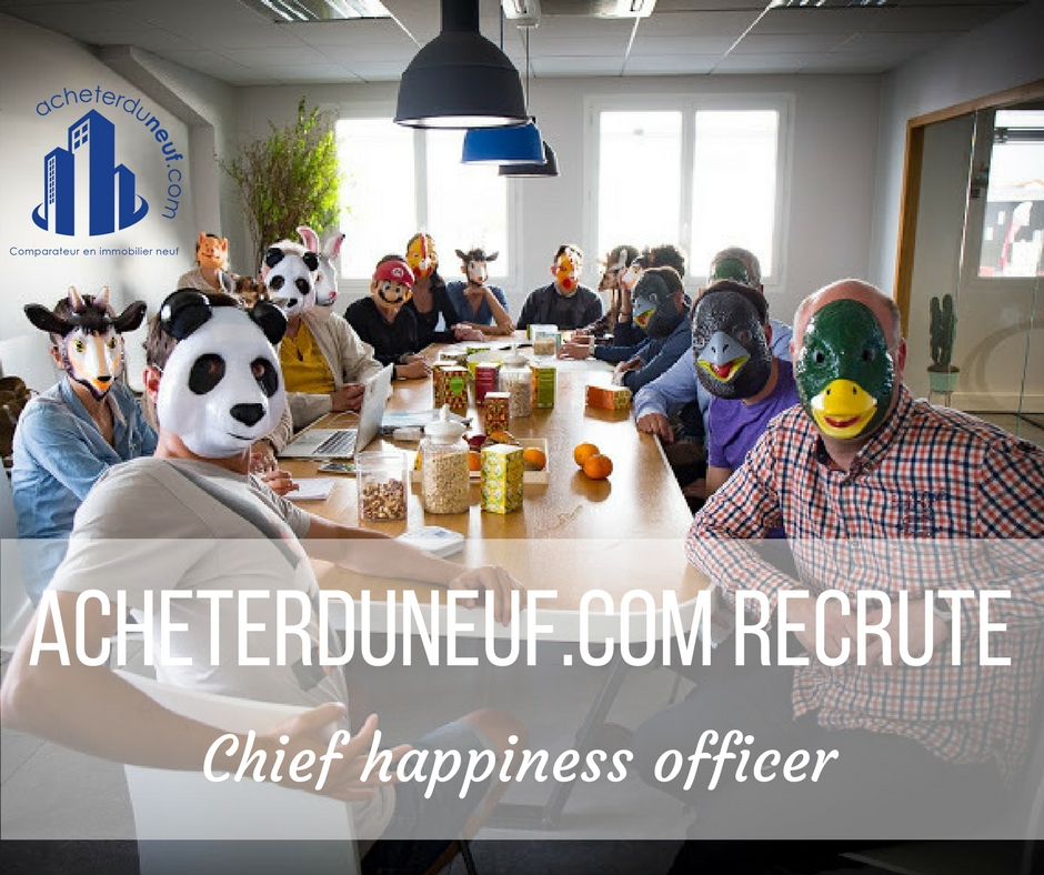 recrute son chief happiness officer l 39 actualit de l 39 immobilier neuf. Black Bedroom Furniture Sets. Home Design Ideas